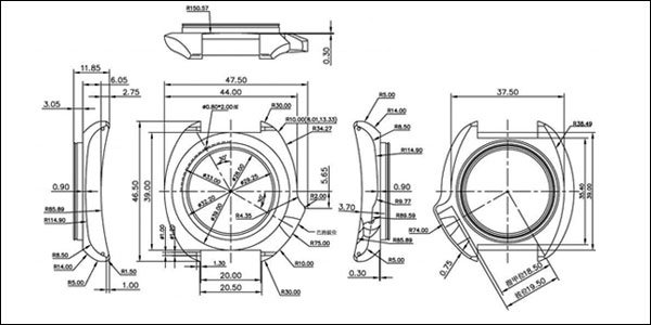 Watch Technical Drawings