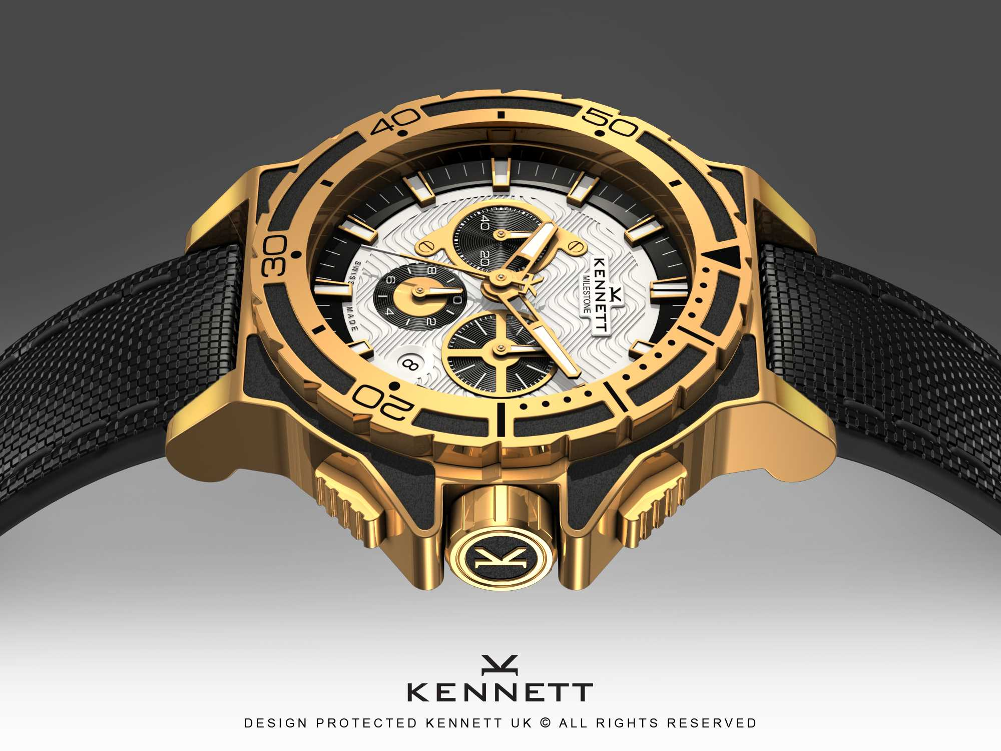 Swiss made diver watch design for kennett for Swiss made watches