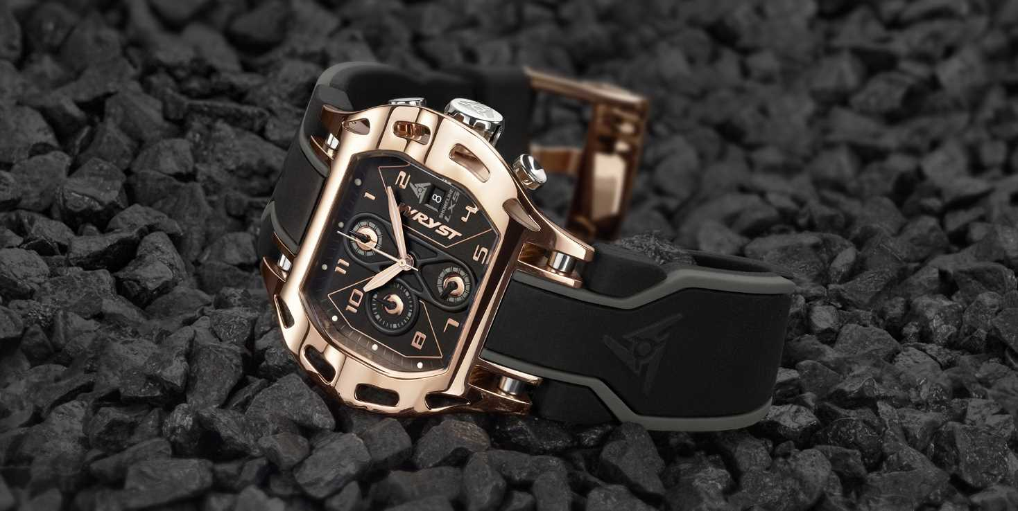 Luxury Rose Gold Sport Watch Wryst Shoreline LX5