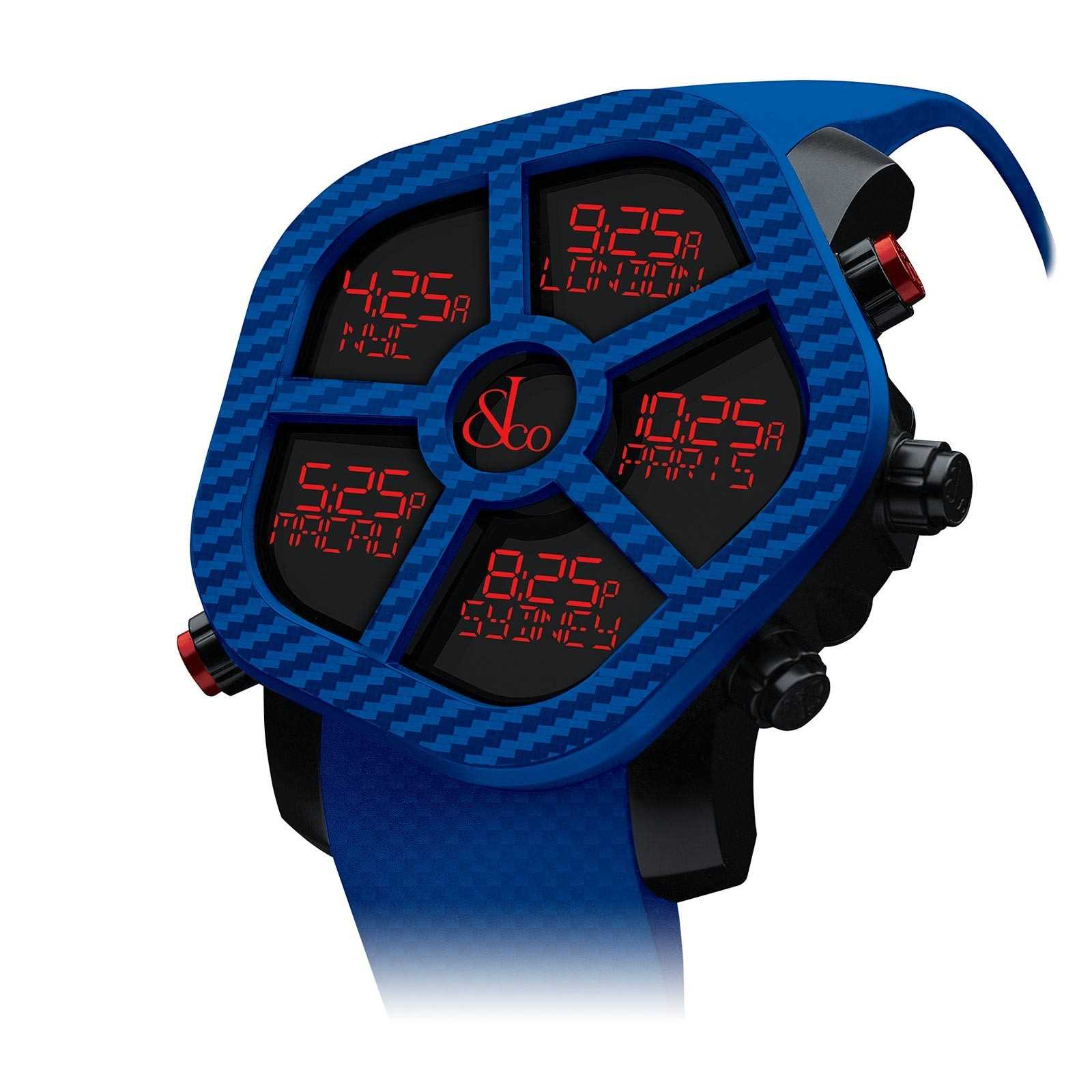 Blue Jacob & Co Ghost Color five timezone watch