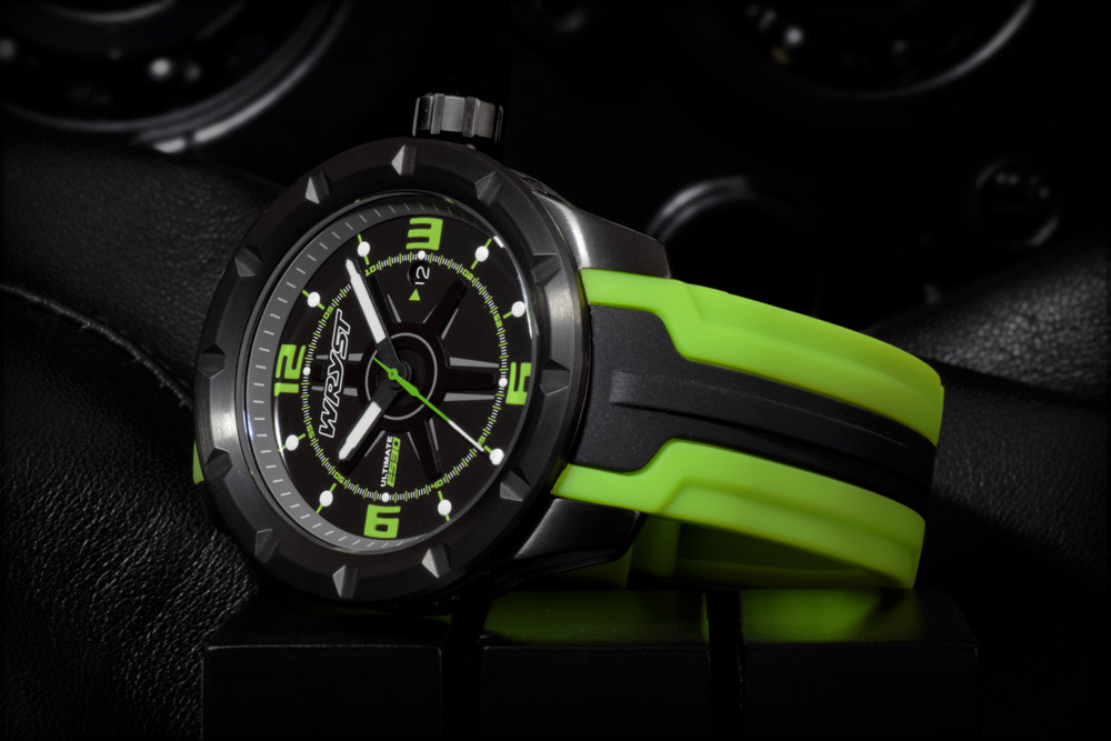 sports watch ultimate green black swiss made