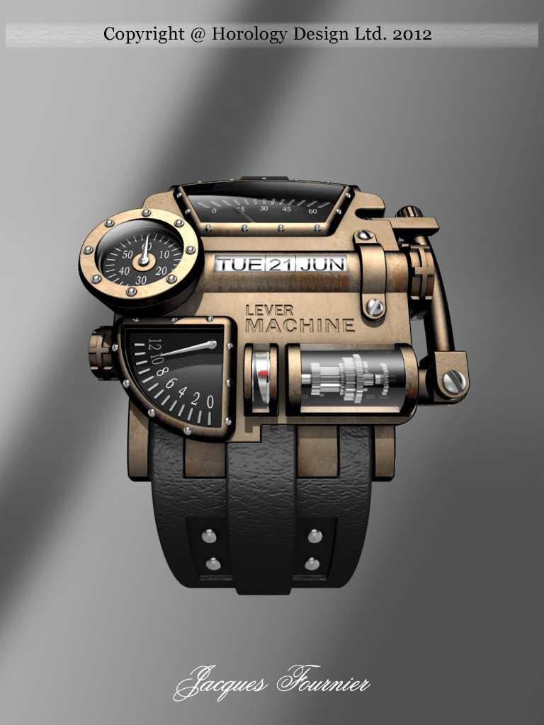 Sci-Fi Steampunk Concept Watch Design